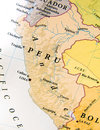 Geographic map of Peru  with important cities Royalty Free Stock Photo