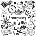 Geography and geology education subject handwriting doodle icon Royalty Free Stock Photo