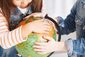 Geography lesson elementary kids on Stock Photo