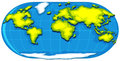 Geography poster with world map Royalty Free Stock Photo