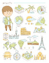 Geography and travel, teacher geographer Doodle