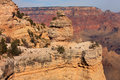 Geologic formations the grand canyon with one of its cliffs of rock Stock Image