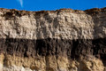Geological cut different tinges of brown soil Royalty Free Stock Photos