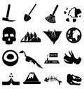 Geology icons set Royalty Free Stock Photo