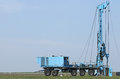 Geology and oil exploration mobile drilling rig vehicle Royalty Free Stock Photo