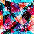 Geometric abstract color pattern in graffiti style. Quality vector illustration for your design Royalty Free Stock Photo