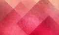 Geometric Abstract Pink And Pe...