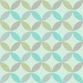 Geometric abstract seamless pattern green vector illustration Stock Photos