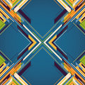 Geometric abstraction with colorful elements Stock Photos