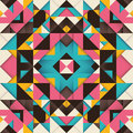 Geometric arabesque with colorful triangles Stock Photo