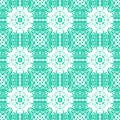 Geometric art deco pattern with floral shapes Royalty Free Stock Photo