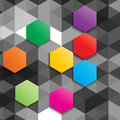 Geometric background abstract with a hexagon design Stock Photography