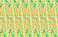 Geometric background of bright multi-colored circles. Fruit abstract pattern. Vector illustration