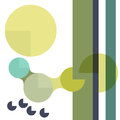 Geometric background with circles and stripes