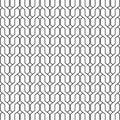 Geometric background of interlacing black lines on white Stock Image