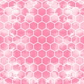 The geometric background made out of hexagons in various colors / The retro hexagon background