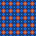 Geometric background made of squares, seamless, blue, dark.