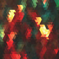 Geometric background multicolored triangles retro illuctration Stock Images