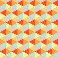 Geometric background, retro triangles, seamless pattern