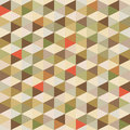 Geometric background seamless pattern in vintage colors vector for different design works Stock Image