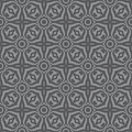 Geometric background - seamless vector pattern in gray colors. Decorative wallpaper pattern. Royalty Free Stock Photo