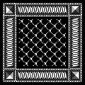 Geometric bandana isolated on black background Stock Photography