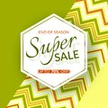 Geometric banner Super sale end of season 70% discount on a vintage geometric background retro theme Summer colors Design template