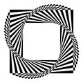 Geometric black and white background a spiral optical illusion Royalty Free Stock Image
