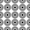 geometric black and white fashion design print sun mandala pattern texture