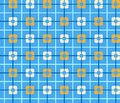 Geometric blue background with orange squares, seamless, color. Royalty Free Stock Photo
