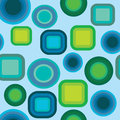 Geometric blue and green pattern background seamless Royalty Free Stock Images