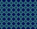 Geometric blue rings and blue diamonds repetion set collage with dark blue at background Royalty Free Stock Photo