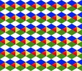 Geometric bright diamond background multicolored pattern, symmetrical pattern with sequential figures