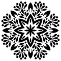 Black and white Floral ornament for coloring mandala element.Culture, e.