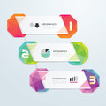 Geometric colorful modern design can be used for infographics numbered banners Stock Images