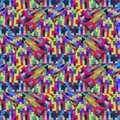Geometric colorful repetition mosaic abstract background with t