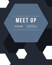 Geometric cover design gray color meet up card