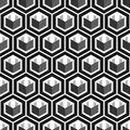 geometric cube seamless pattern.Fashion graphic design.Vector illustration. Background design. Modern stylish abstract texture. Te Royalty Free Stock Photo