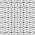 Geometric decor vector pattern, repeating square diamond shape, monochrome stylish.