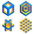 Geometric figures set of colored Stock Image
