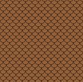 Geometric fish scales chinese seamless pattern. Wavy roof tile background for design. Modern repeating stylish texture. Flat patte