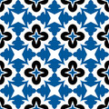 Geometric floral pattern Royalty Free Stock Photo