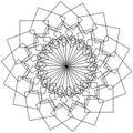 Geometric flower - Circular pattern lotus flower, mandala, motif