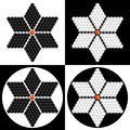 Geometric flower consisting of isometric cubes, illusion flower