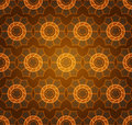 Geometric Flower Wheel Pattern Stock Images