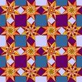 Geometric flowers pattern Royalty Free Stock Photo