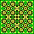 Geometric flowers.