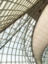 Geometric glass facade Royalty Free Stock Photo