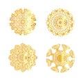 Geometric gold mandala.
