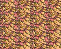 Geometric gradient hand draw ink patterns colorful abstract mosaic backgrounds vector illustration in shades of pink and gree Stock Image